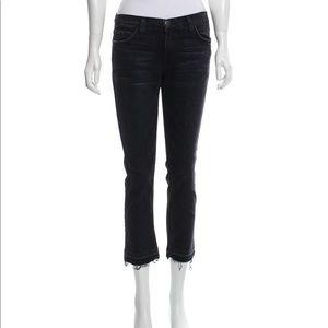 Current/Elliott cropped straight mid rise …